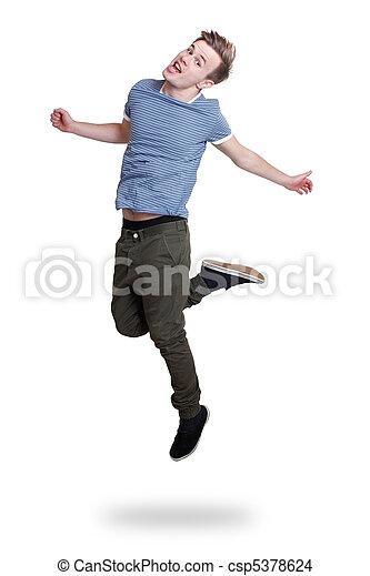 人, 跳躍 - csp5378624