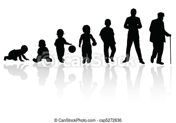 人, 黑色半面畫像 - csp5272636