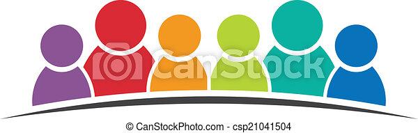 人, friends., 6, グループ, 人々 - csp21041504
