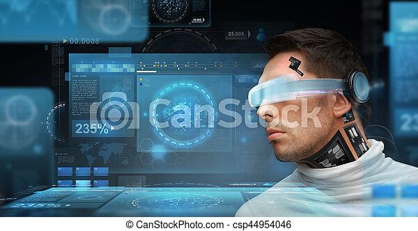人, sensors, ガラス, 未来派 - csp44954046