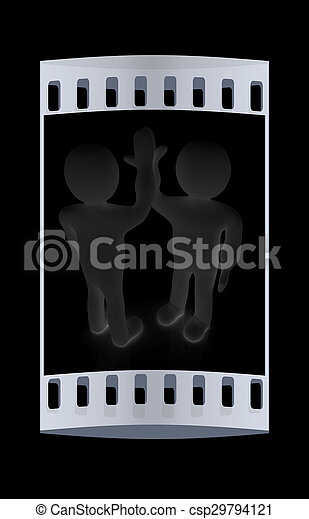 人, success., ∥間に∥, -, 隔離された, 感情, 2, series:, 人, 5, 祝いなさい, 人間, ストリップ, black., フィルム, 3d - csp29794121