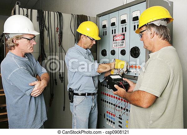 仕事のチーム, 電気である - csp0908121