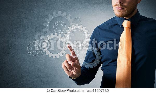 仕事, ギヤ, エンジニア - csp11207130