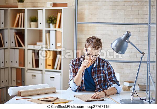 仕事, 建築家 - csp27767115
