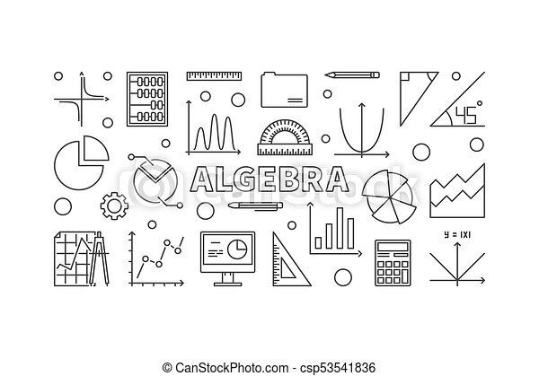 代数学 イラスト ベクトル 横 旗 あるいは 横 スタイル 代