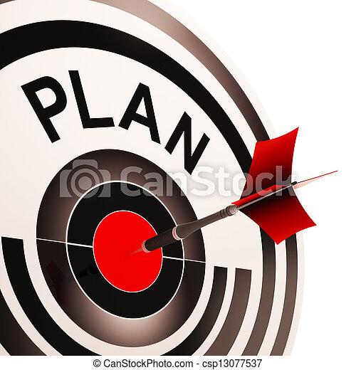 代表団, ターゲット, 計画, ゴール, 計画, ショー - csp13077537