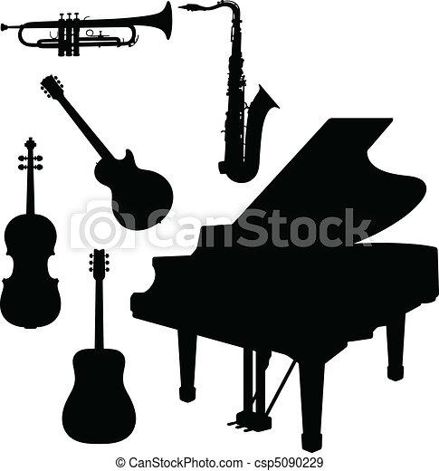 仪器, 钢琴, 矢量, 音乐 - csp5090229
