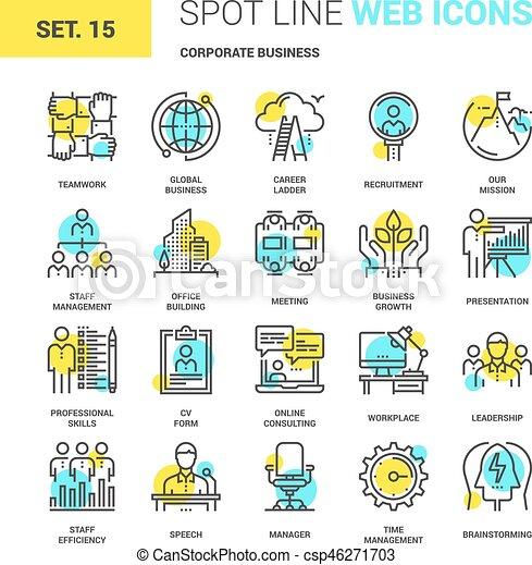 企業のビジネス, アイコン - csp46271703