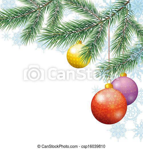 休日, クリスマス, 背景 - csp16039810