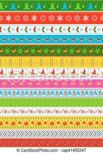 休日, デザイン, seamless, 背景, クリスマス - csp41455247