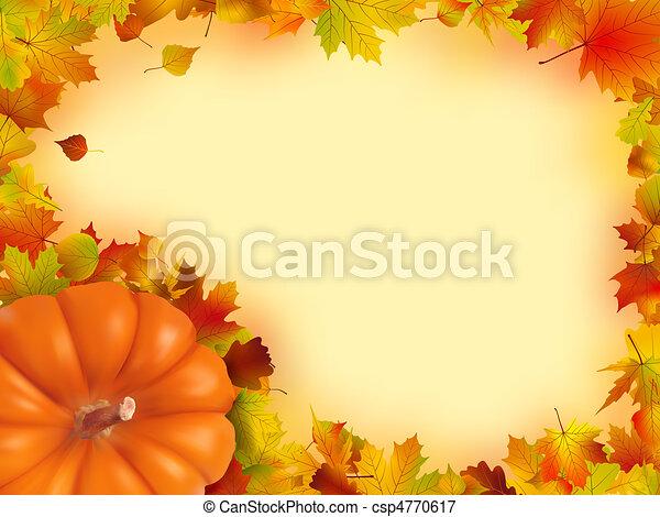 休日, 感謝祭, frame. - csp4770617