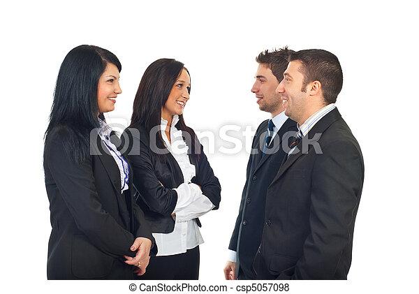 会話, グループ, 持つこと, ビジネス 人々 - csp5057098