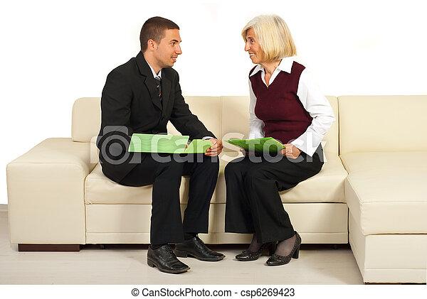 会話, 人々, 持つこと, ビジネス, 2 - csp6269423