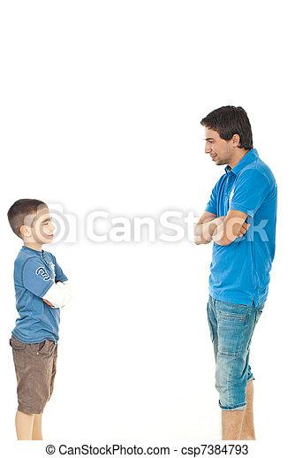 会話, 父, 息子 - csp7384793