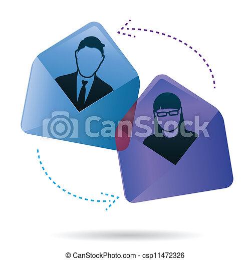 会話, 電子メール - csp11472326