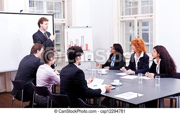 会議テーブル, オフィス, ビジネス チーム - csp12294781