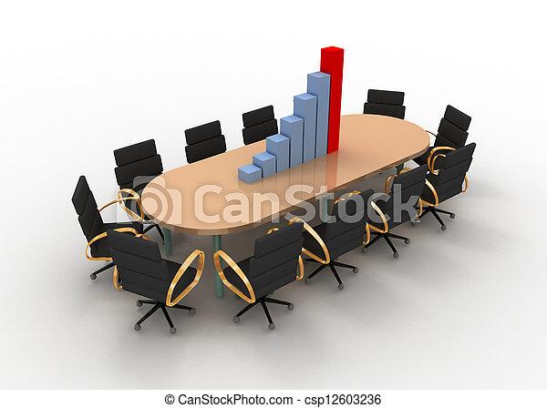 会議テーブル, グラフ - csp12603236