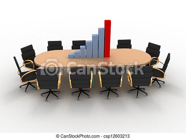 会議テーブル, グラフ - csp12603213