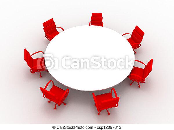 会議テーブル - csp12097813