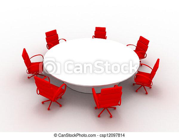 会議テーブル - csp12097814