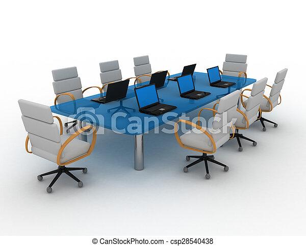 会議室, 3d - csp28540438