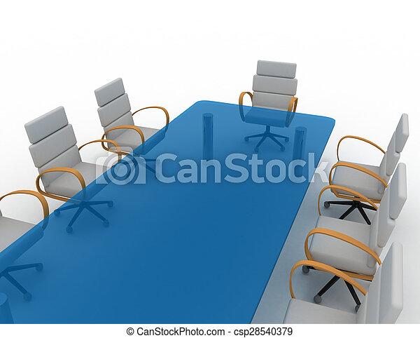 会議室, 3d - csp28540379