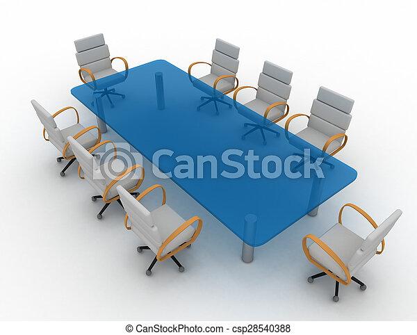 会議室, 3d - csp28540388