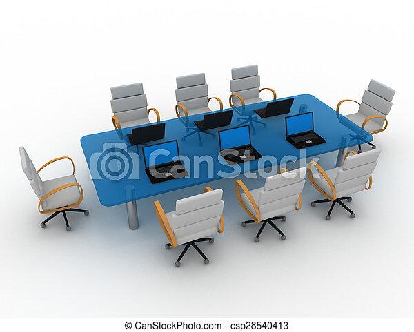 会議室, 3d - csp28540413