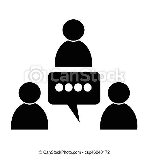 会議, アイコン - csp46240172