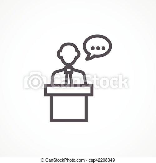 会議, アイコン - csp42208349