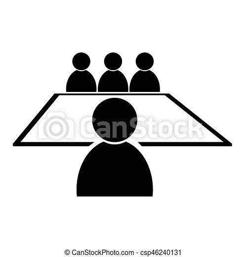 会議, アイコン - csp46240131