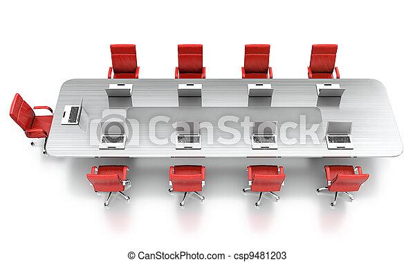 会議, テーブル。 - csp9481203