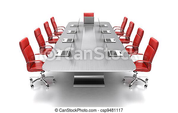会議, テーブル。 - csp9481117