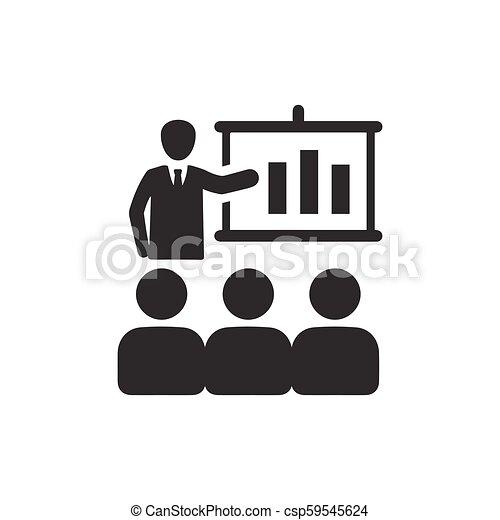 会議, ビジネス, アイコン - csp59545624