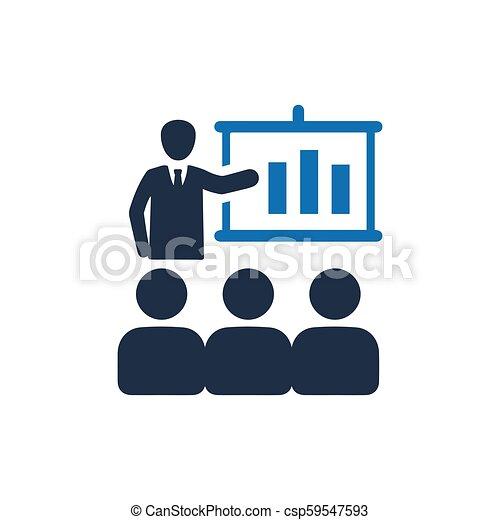 会議, ビジネス, アイコン - csp59547593