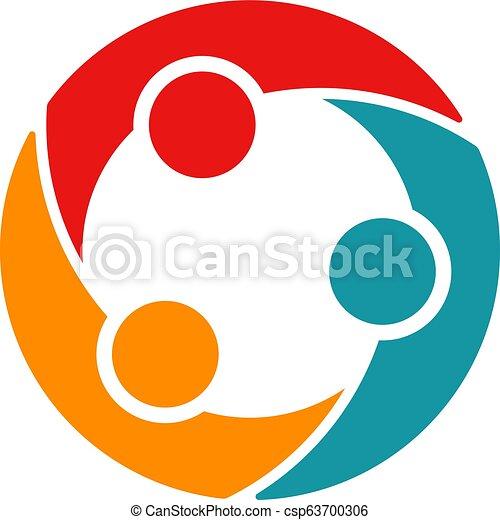 会議, ビジネス 人々, 企業家, 3, circle. - csp63700306