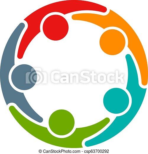 会議, ビジネス, 5人の人々, circle., 企業家 - csp63700292