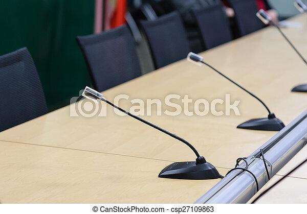 会議, マイクロフォン - csp27109863