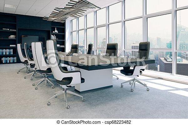 会議, 内部, 現代部屋, 3d - csp68223482