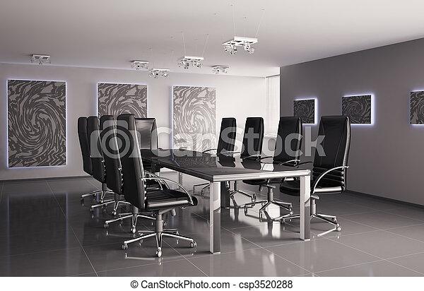 会議, 内部, 部屋, 3d - csp3520288