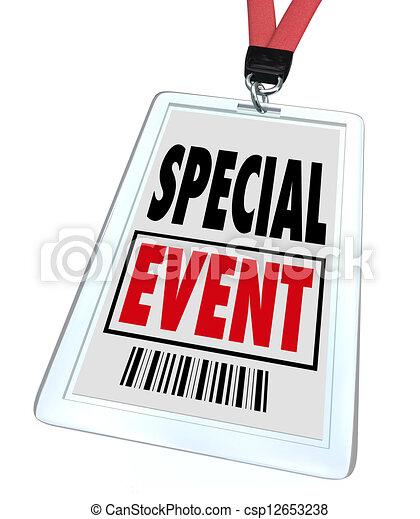 会議, 博覧会, lanyard, 大会, バッジ, でき事, 特別 - csp12653238