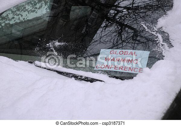 会議, 地球温暖化, 印 - csp3187371