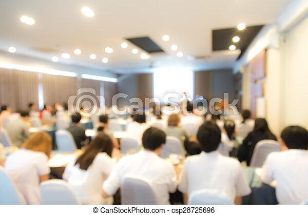 会議, 抽象的, プレゼンテーション, ビジネス, ぼやけ - csp28725696