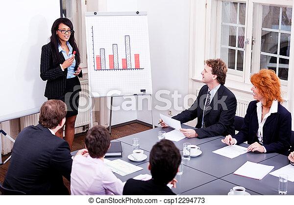 会議, 訓練, プレゼンテーション, ビジネス チーム - csp12294773