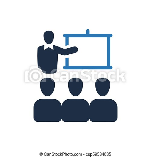 会議, 講義, アイコン - csp59534835