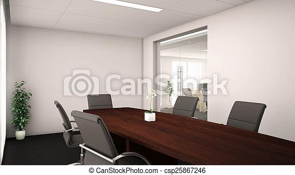 会議, -, 部屋, オフィス, 3d - csp25867246