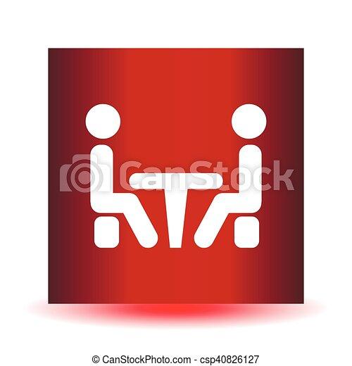 会議, icon. - csp40826127