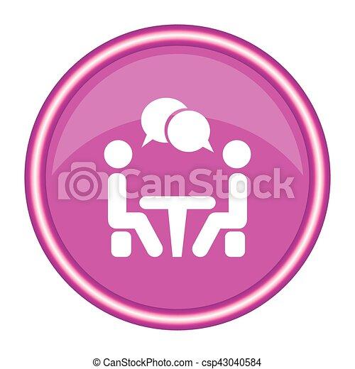 会議, icon., 人々, テーブル。, モデル - csp43040584