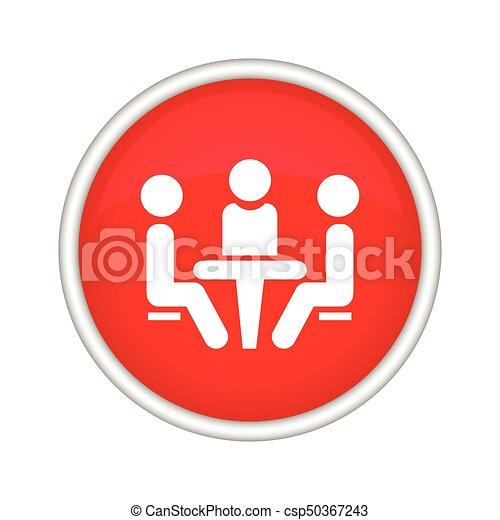 会議, icon., 人々, テーブル。, モデル - csp50367243