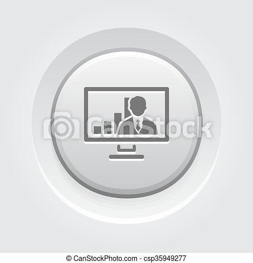 会議, icon., 概念, ビデオ, ビジネス - csp35949277